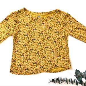 3T Floral Mustard Top
